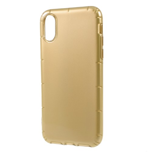 Klassisk iPhone X TPU-cover - Gylden