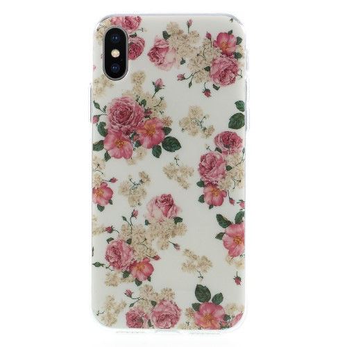 iPhone X TPU-cover -Blomster