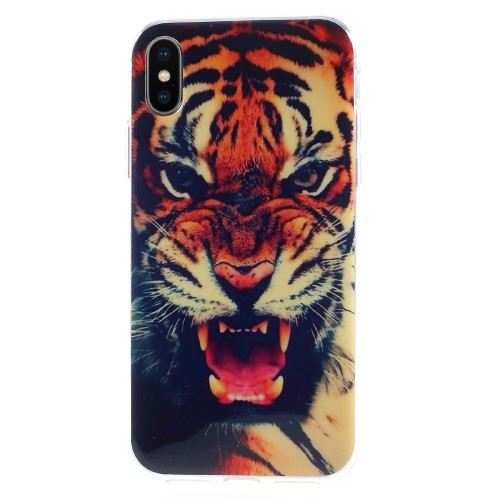 iPhone X TPU-cover - Tiger