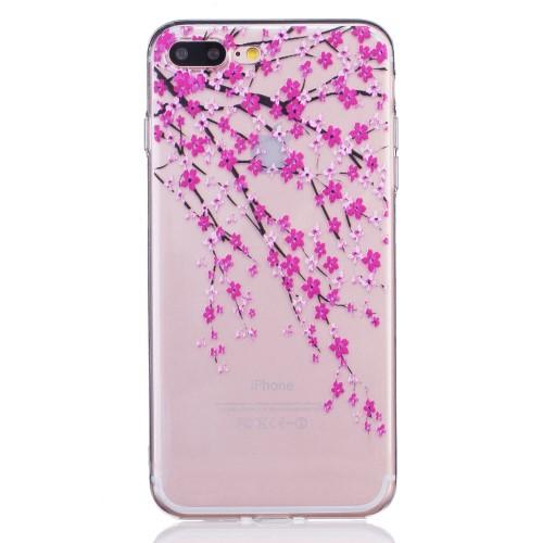 iPhone 7+/8+ TPU cover - Japanske kirsebærblomster