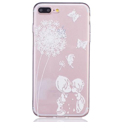 iPhone 7+/8+ TPU cover - Sommerfugle i maven