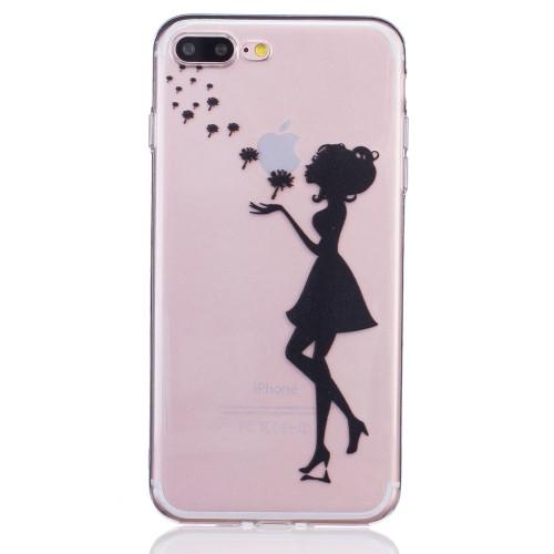 iPhone 7+/8+ TPU cover - Pige med mælkebøtte