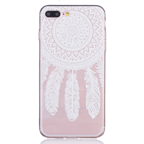 iPhone 7+/8+ TPU cover - Hvid dreamcatcher