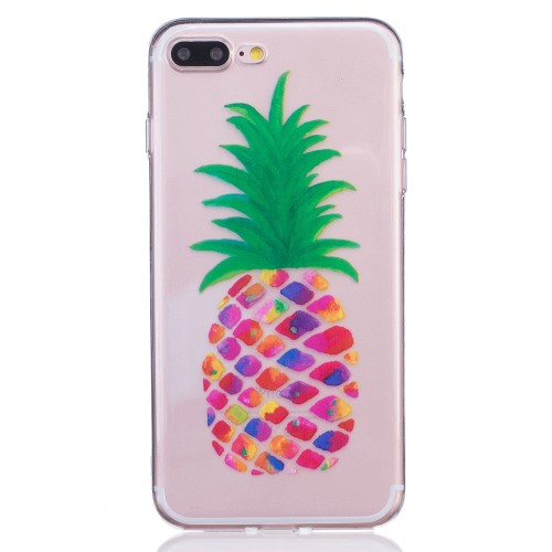 iPhone 7+/8+ TPU cover - Farverig ananas