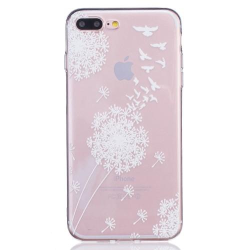 iPhone 7+/8+ TPU cover - Fugle og mælkebøtter