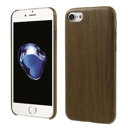 Træmønstret iPhone 7 cover, brun