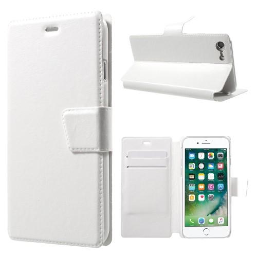 iPhone 7 PU-læderetui med kortholdere, hvid