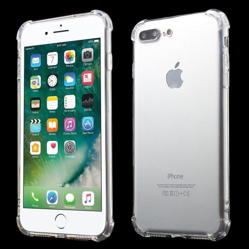iPhone 7+/8+ gennemsigtigt stødabsorberende TPU-cover