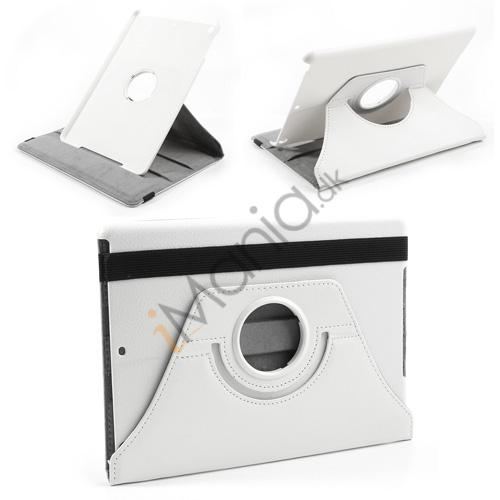 Multifunktionelt iPad Air Læder Etui/Cover, hvid