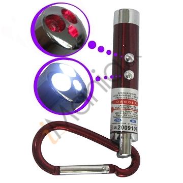 Image of   3 i 1 Laser og LED-lommelygte