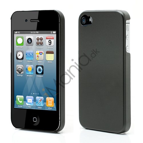 Tyndt iPhone 4 Aluminium Cover, Sort Metal