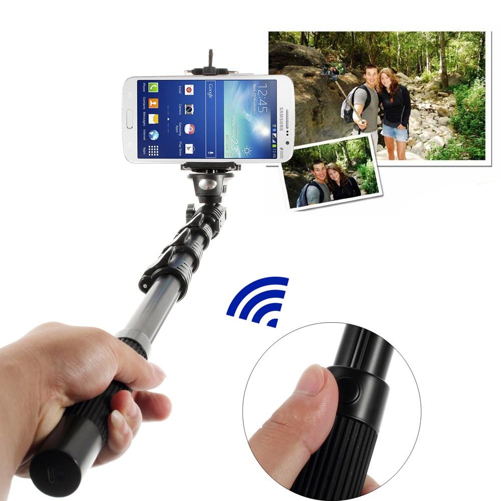 Universal Selfie-stang med bluetooth-kameraudløser