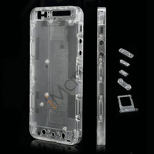 Billede af Gennemsigtigt iPhone 5 bagcover inkl små dele