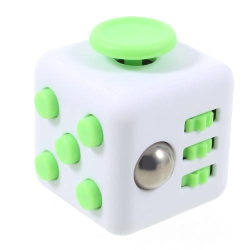 Fidget cube - hvid/grøn