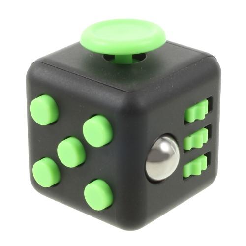Fidget cube - sort/grøn