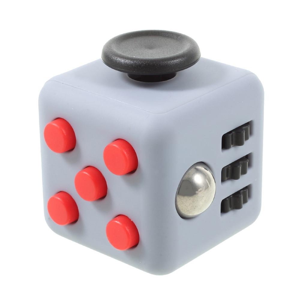 Billede af Fidget cube - grå/rød