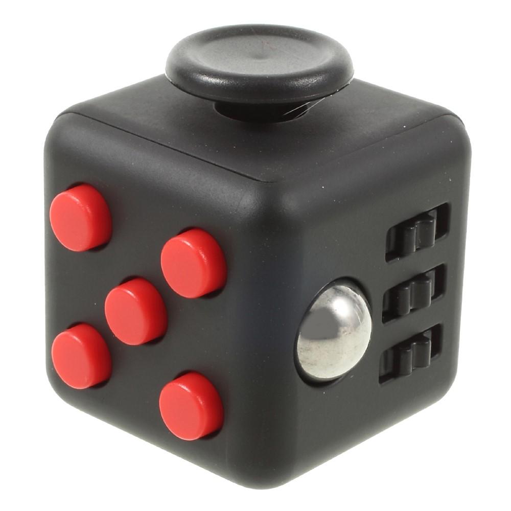 Fidget cube - Rød / sort