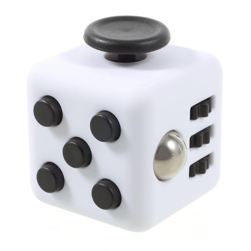 Fidget cube - hvid / sort