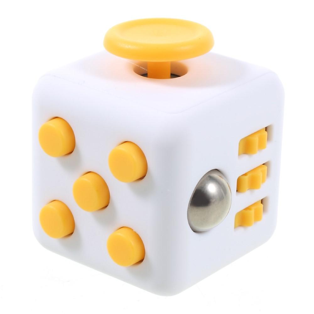 Fidget cube - hvid / gul