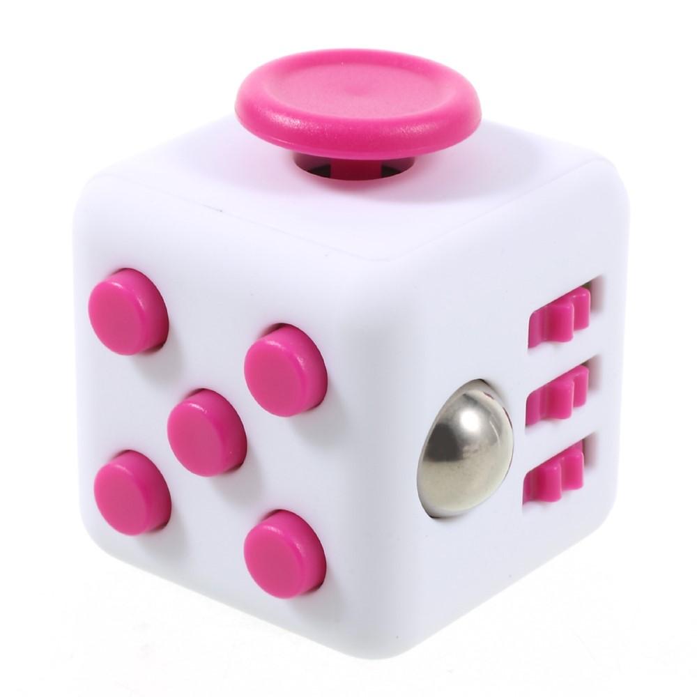 Fidget cube - Hvid / pink