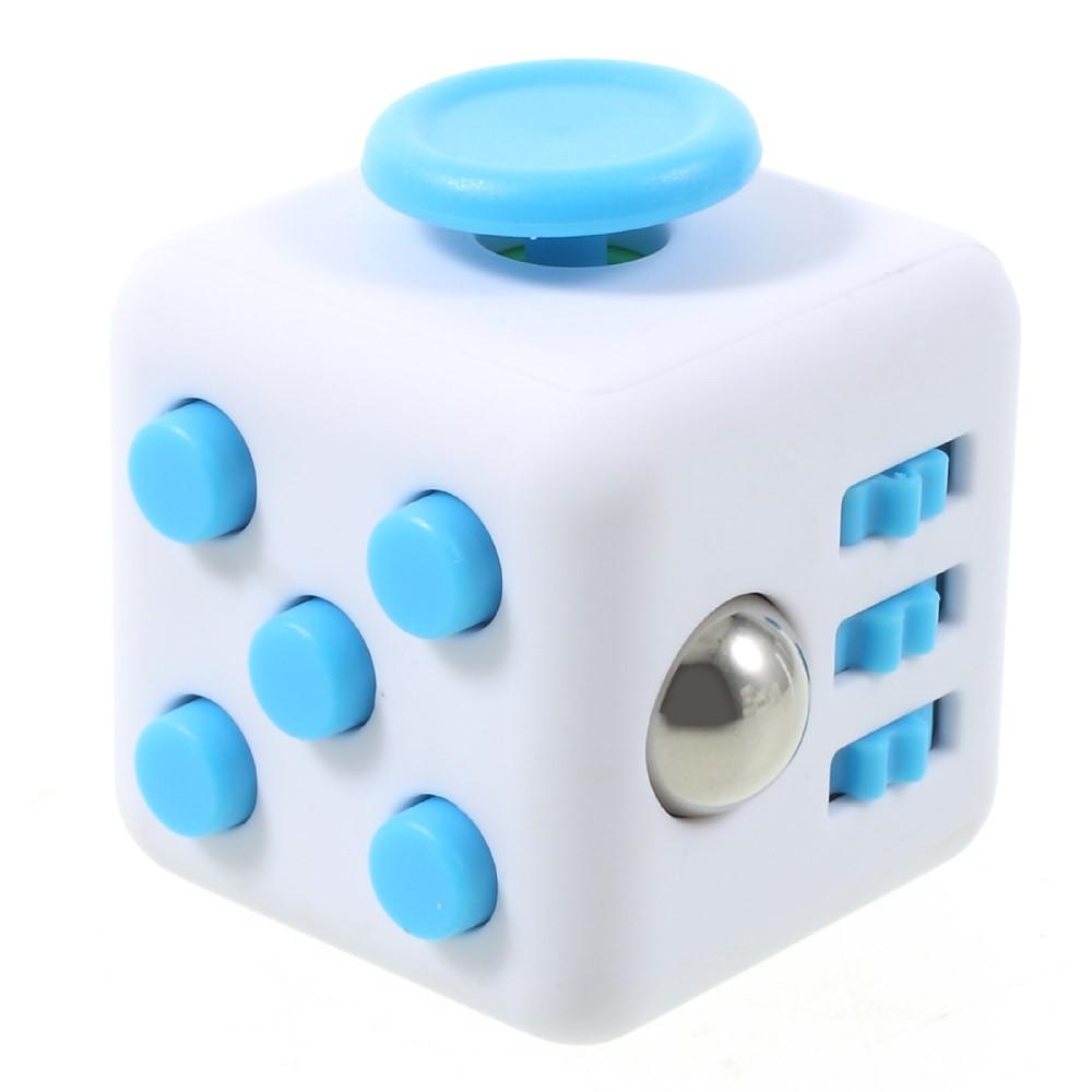 Fidget cube - Hvid / blå