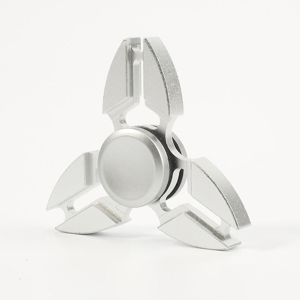 Alu tri-spinner - Sølvfarvet