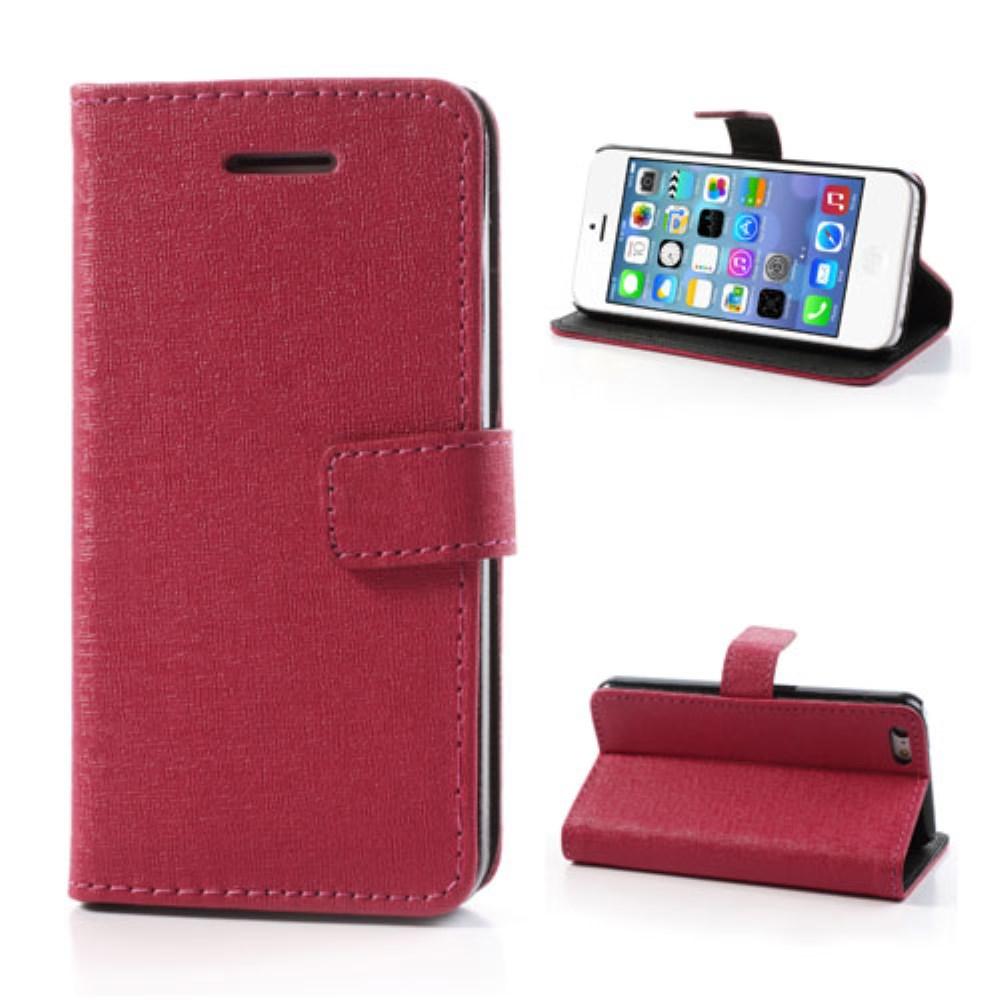 Image of   Mønstret PU-læder etui til iPhone 5C, pink