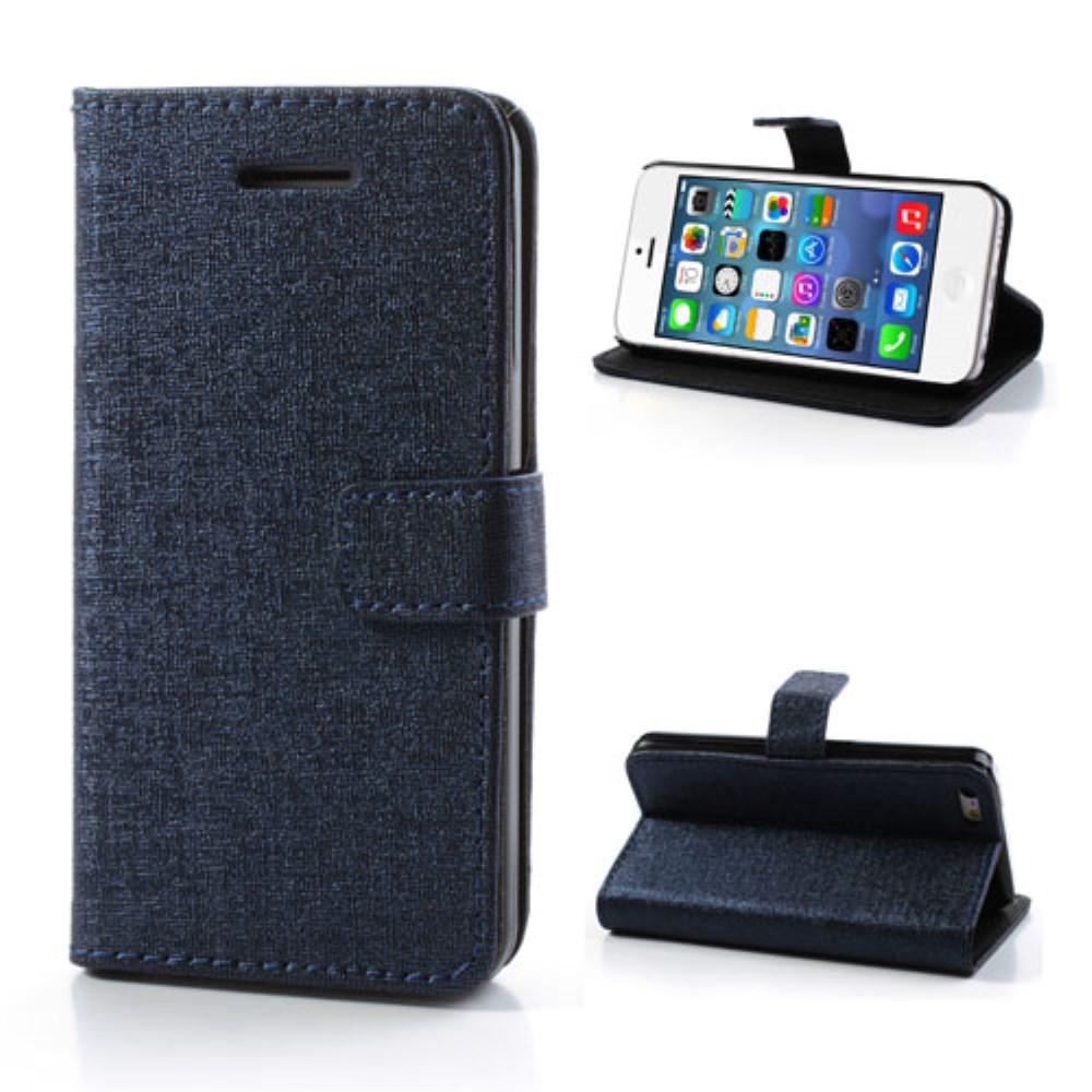 Image of   Mønstret PU-læder etui til iPhone 5C, mørkeblå