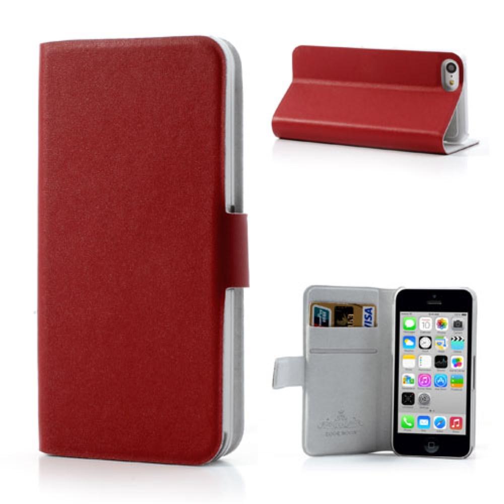 Image of   iPhone 5C etui i ægte læder, rød