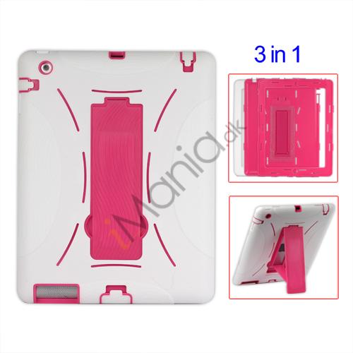 Image of   Aftagelig Defender Stand Case til iPad 2 - Hvid / Pink