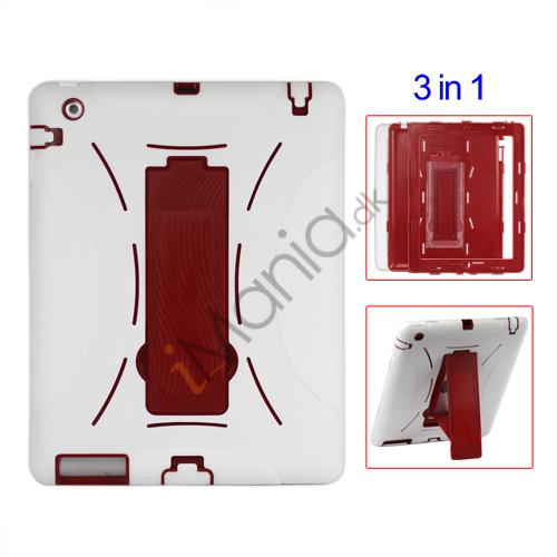 Image of   Aftagelig Defender Stand Case til iPad 2 - Hvid / Rød