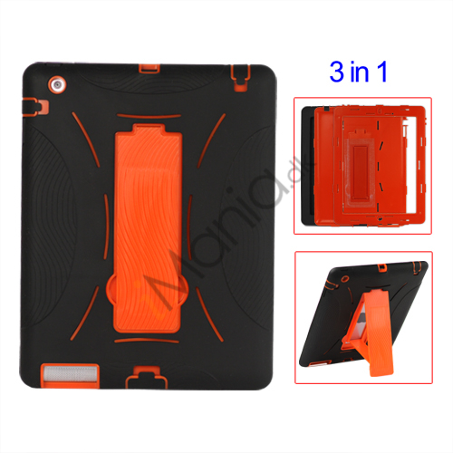 Image of   Snap-on Defender Stand Case til iPad 2 - Sort / Orange