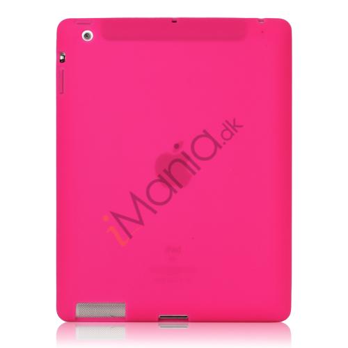Image of   Blødt Silikone Cover Taske til Den Nye iPad 2. 3. 4. Generation - Rose