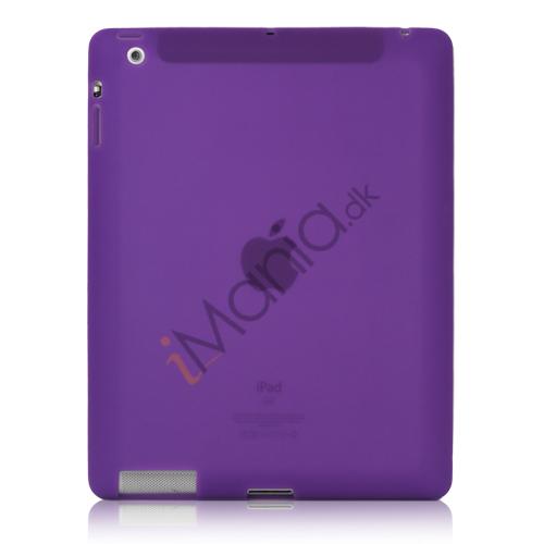Image of   Blødt Silikone Cover Taske til Den Nye iPad 2. 3. 4. Generation - Lilla