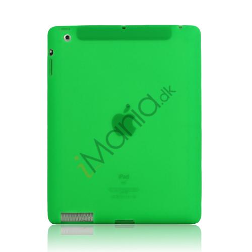 Image of   Blødt Silikone Cover Taske til Den Nye iPad 2. 3. 4. Generation - Grøn