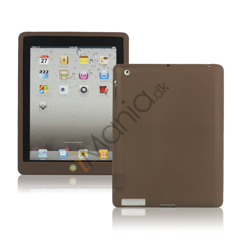 Image of   Ny iPad 2. 3. 4. Gen Silikone Case Skin Cover med Home Button - Kaffe