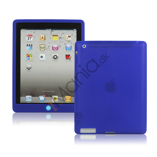 Image of   Ny iPad 2. 3. 4. Gen Silikone Case Skin Cover med Home Button - Blå