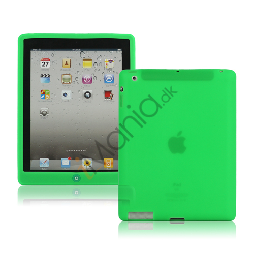 Image of   Ny iPad 2. 3. 4. Gen Silikone Case Skin Cover med Home Button - Grøn