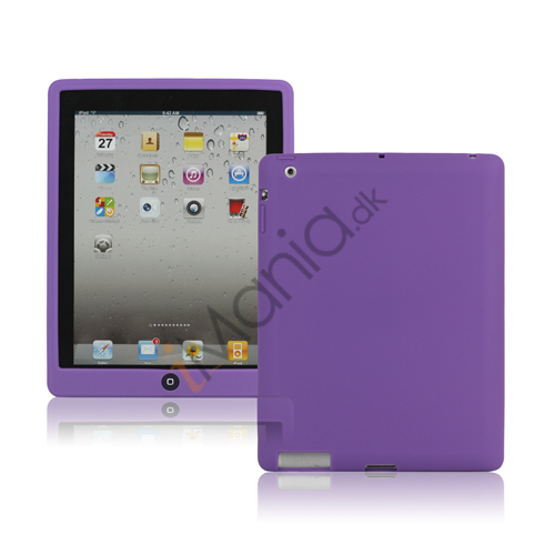 Image of   Ny iPad 2. 3. 4. Gen Silikone Case Skin Cover med Home Button - Lilla