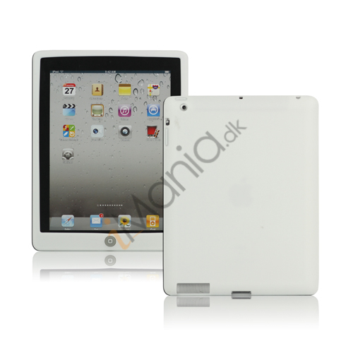 Image of   Ny iPad 2. 3. 4. Gen Silikone Case Skin Cover med Home Button - Hvid