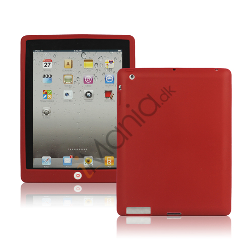 Image of   Ny iPad 2. 3. 4. Gen Silikone Case Skin Cover med Home Button - Rød