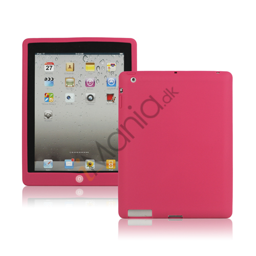 Ny iPad 2. 3. 4. Gen Silikone Case Skin Cover med Home Button - Rose