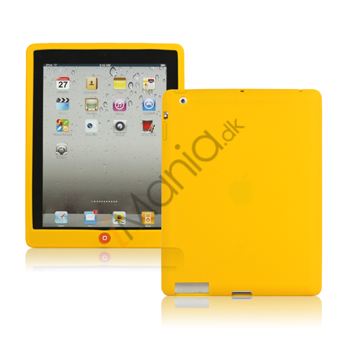 Image of   Ny iPad 2. 3. 4. Gen Silikone Case Skin Cover med Home Button - Gul