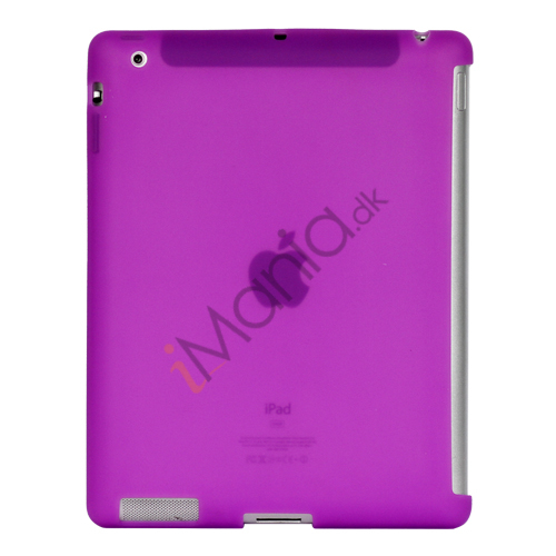 Image of   Naked Smart Cover Companion Silikone Taske til Den Nye iPad 2. 3. 4. Gen - Lilla