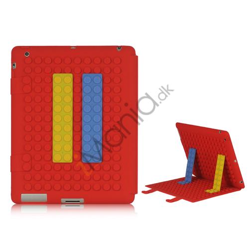 Fleksibel Building Block Silikone Taske hud Cover Holder til iPad 2 3 4, Flere farver