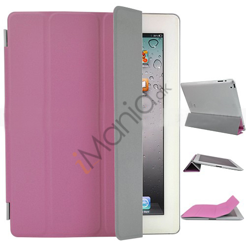 Image of   Fabulous Kunstlæder Smart Cover til iPad 3rd Generation den nye iPad - Pink