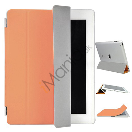 Image of   iPad 3rd Generation Den Nye iPad Kunstlæder Smart Cover - Orange
