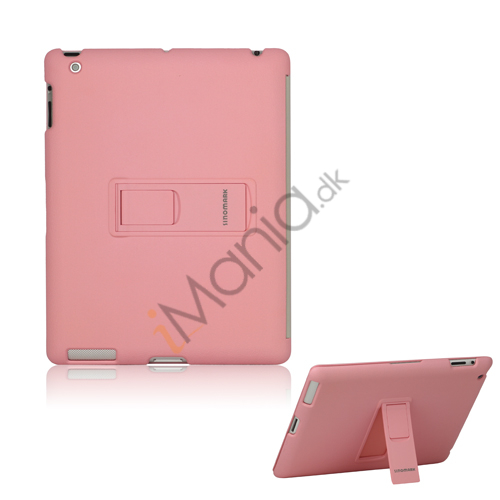 Image of   Slim Magnetisk Hard Smart Cover med Stand til Den Nye iPad 2. 3. 4. Generation - Pink