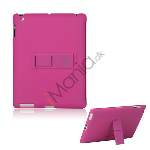 Slim Magnetisk Hard Smart Cover med Stand til Den Nye iPad 2. 3. 4. Generation - Rose