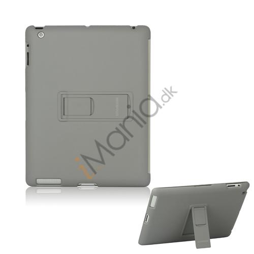 Slim Magnetisk Hard Smart Cover med Stand til Den Nye iPad 2. 3. 4. Generation - Grå